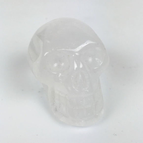 Carved Skull Clear Quartz
