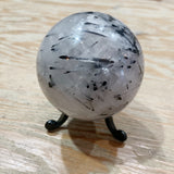 Tourmalated Quartz Polished Sphere