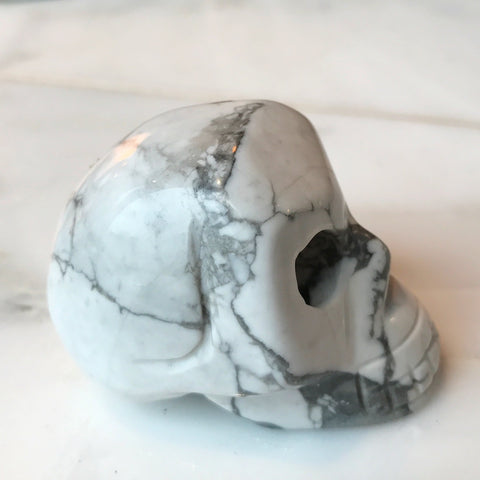 Howlite Carved Skull 2""