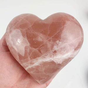 Hand Carved Pink Calcite Heart