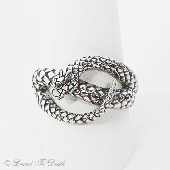 Coiled Snake Sterling Ring