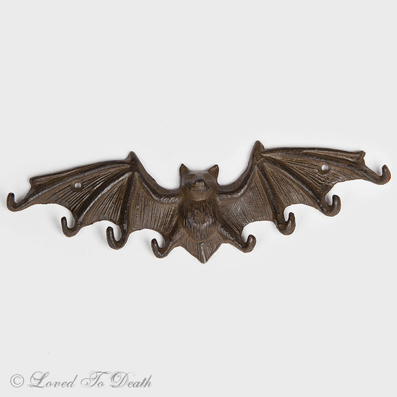 Cast Iron Bat Wall Hook