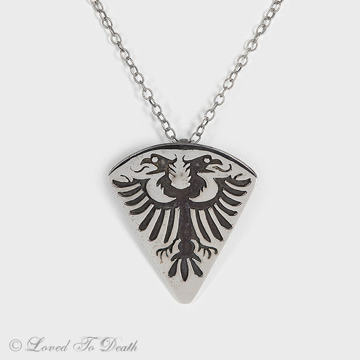 Sterling Heraldic Necklace