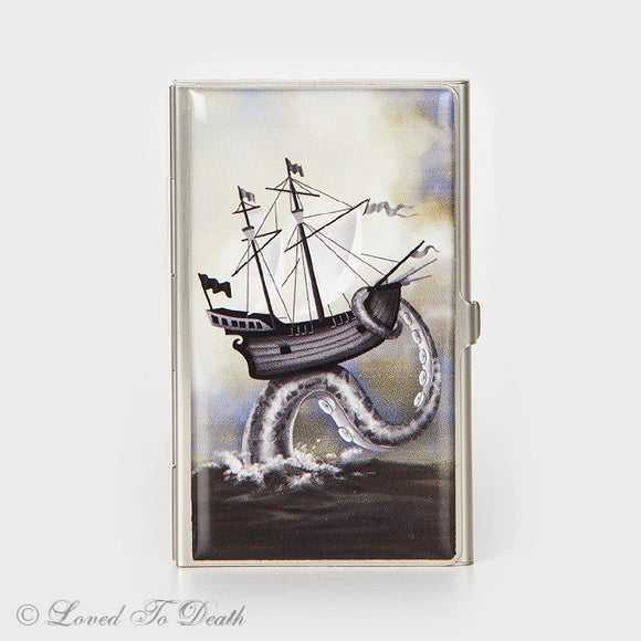 Ship on Octopus Tentacle Card Case