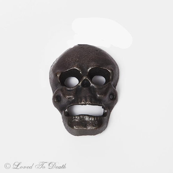 Cast Iron Skull Bottle Opener