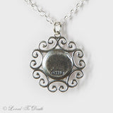 Filigree Bobcat Taxidermy Eye Sterling Necklace