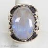 Sterling Moonstone Trident Ring