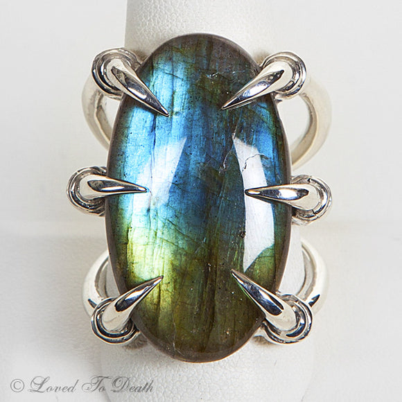 Sterling Labradorite Claw Ring