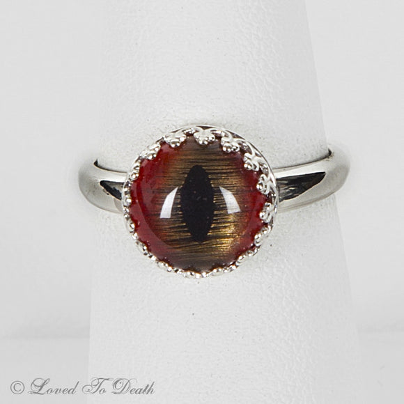 Taxidermy Shark Eye Sterling Ring