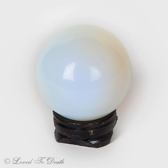 Opalite Sphere on Stand