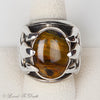 Pietersite Sterling Trident Ring