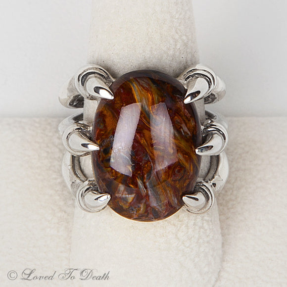 Sterling Claw Pietersite Ring