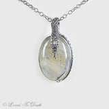 Serpent Snake Moonstone Sterling Necklace
