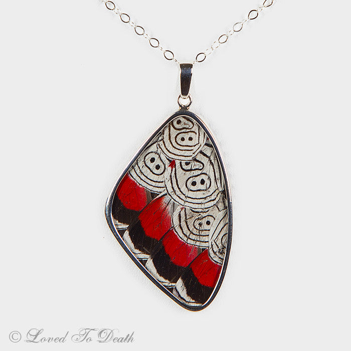 "Sterling ""88"" Butterfly Wing Necklace"