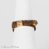 Victorian Mourning Hair Work Ring Gold Filled Buckle Ring