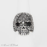 Sterling Silver Sugar Skull Ring