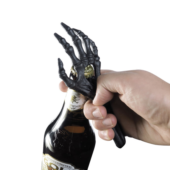 Skeleton Hand Cast Iron Bottle Opener Black