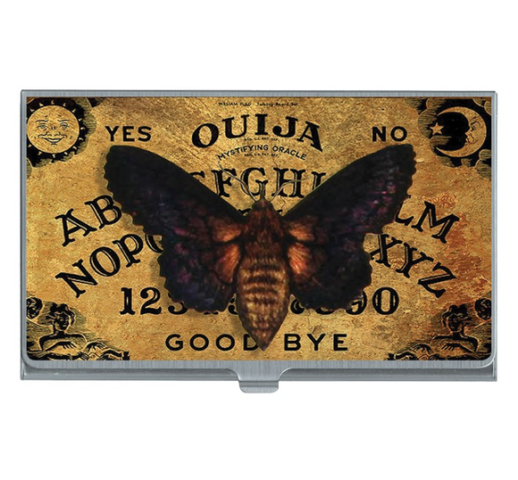 Ouija Death Head Moth Card Case