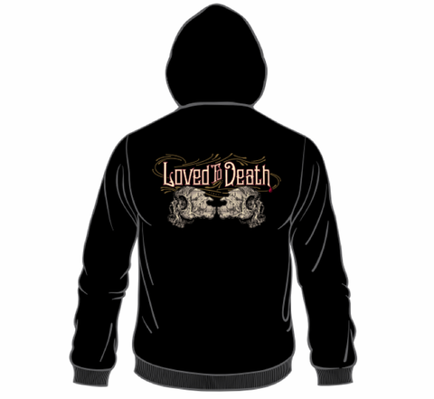 Loved To Death Zip Up Hoodie