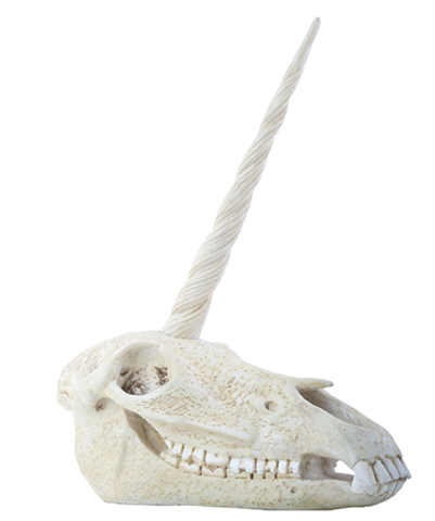 Unicorn Resin Skull
