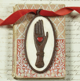 Heart In Hand Cast Iron Plaque