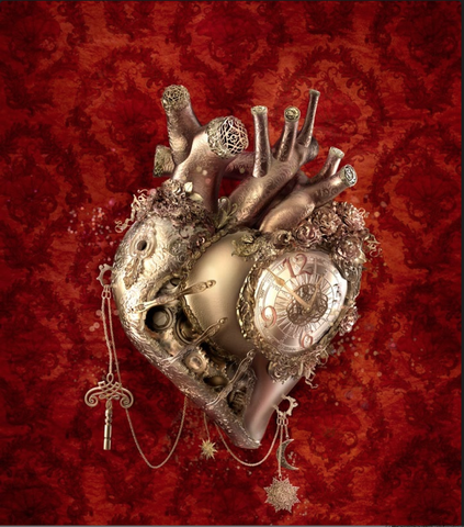 { The Clockwork Heart } Ransom & Mitchell Framed Metallic Print