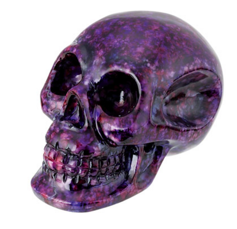 Purple Marble Resin Small Skull