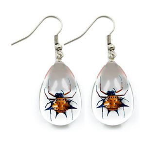 Spiny Spider Lucite Earrings