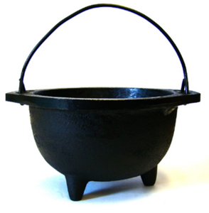 Black Cast Iron Cauldron 6""