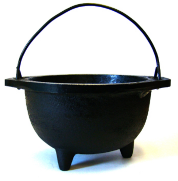 Black Cast Iron Cauldron 6