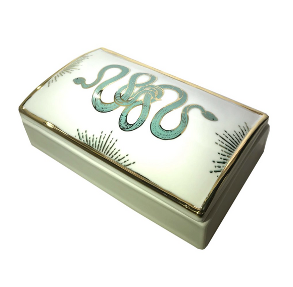 Ceramic Serpent Box