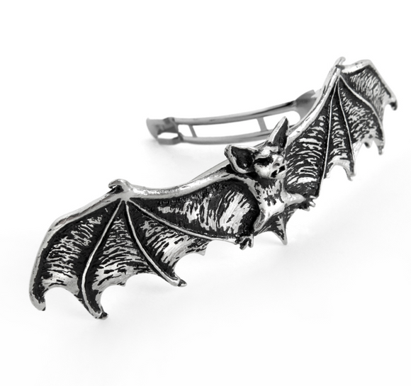 Bat Pewter Barrette