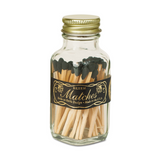 Mini Black & Gold Matches in Jar