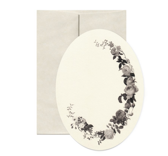 { Dark Roses } Oval Gift Card