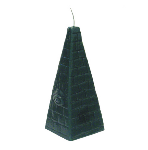 Money Draw Eye Green Pyramid Candle