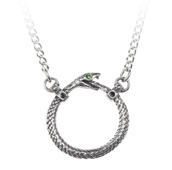 Ouroboros Pewter Necklace