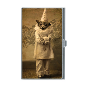 Victorian Bat Clown Card Case