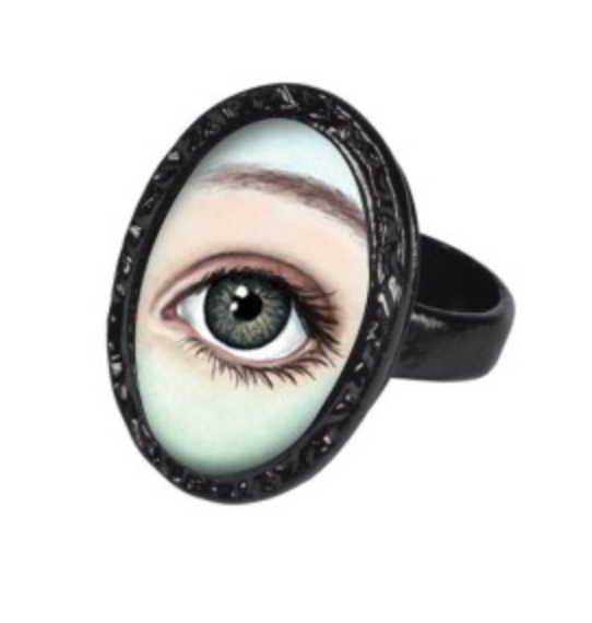 Lover's Eye Black Victorian Setting Ring