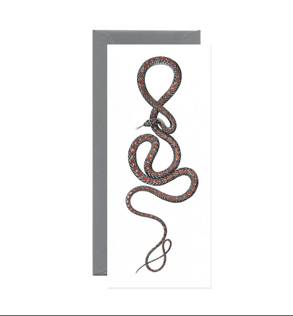 Paradise Flying Snake Red Foil Long Gift Card