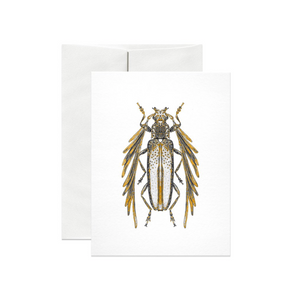 Feather Horned Longicorn Gold Foil Gift Card