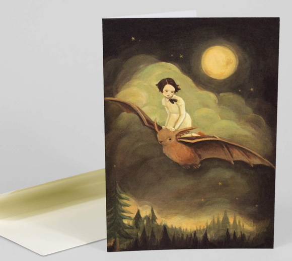 Woman Flying Bat Gift Card