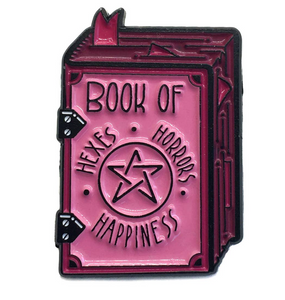 Book of Hexes Pink Enamel Pin