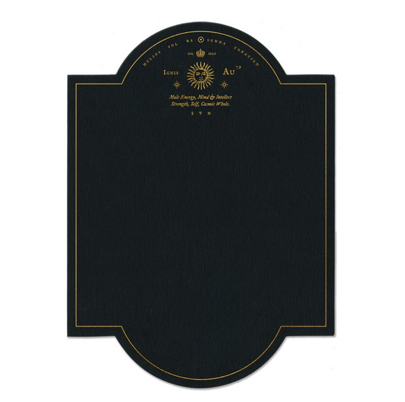 Black Sun Black & Gold Foil Flat Card