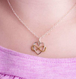 Infinity Heart Charm Sterling Necklace