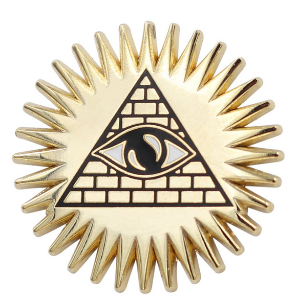 Pyramid Eye Enamel Pin