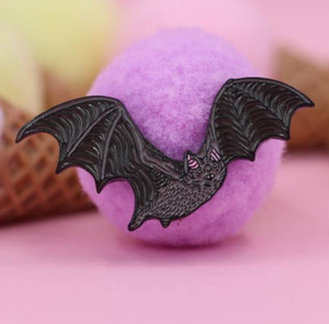 Flying Bat Enamel Pin
