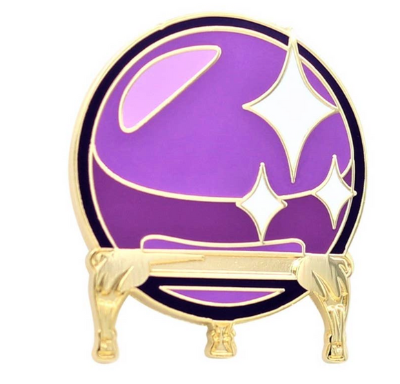 Crystal Ball Enamel Pin