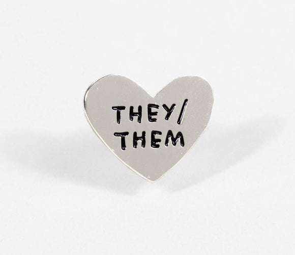 They / Them Enamel Pin