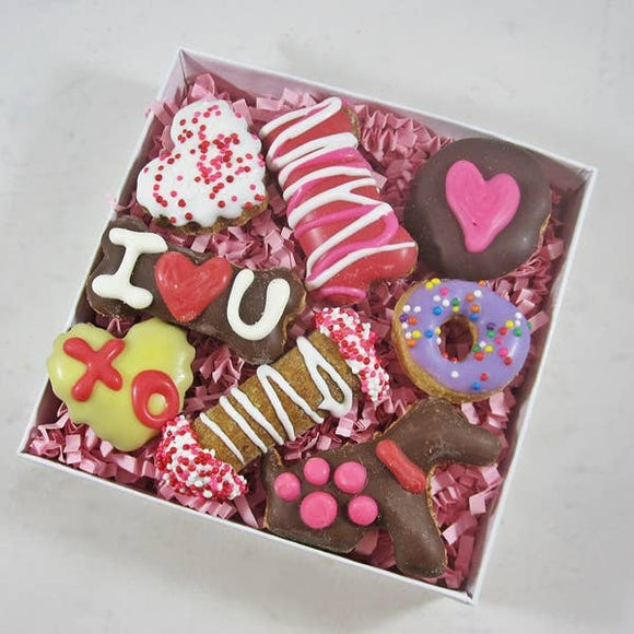 Mini Valentine Dog Cookies Gift Box