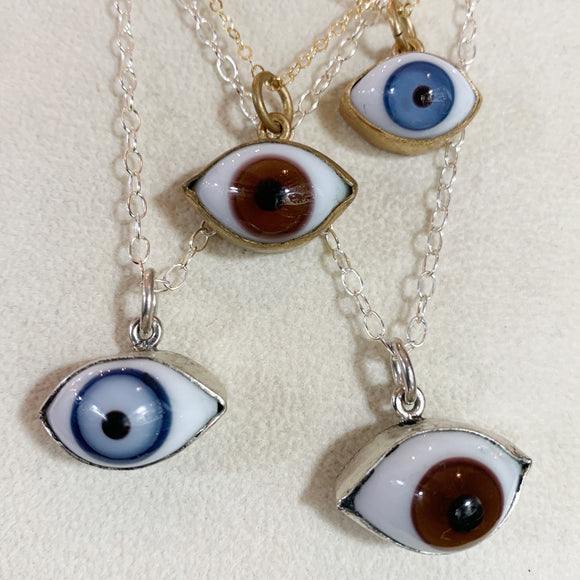 Mini Eye Necklace Sterling or Gold Filled